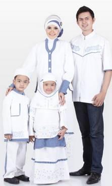 Baju Muslim Keluarga Nuansa Putih 01