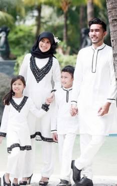 Baju Muslim Keluarga Nuansa Putih 02