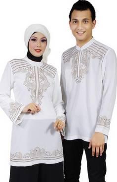 Baju Muslim Keluarga Nuansa Putih 03