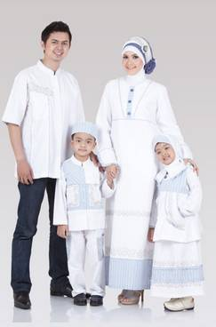 Baju Muslim Keluarga Nuansa Putih 04