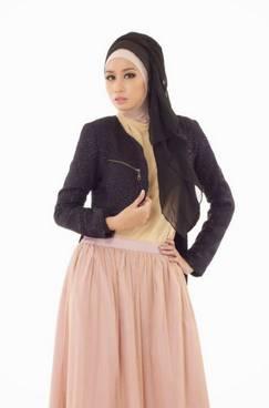 Desain Baju Muslim Di Padukan Jaket 01