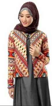 Desain Baju Muslim Di Padukan Jaket 04