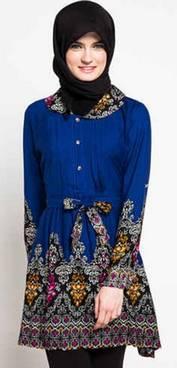 Desain Baju Muslim Motif Batik 01