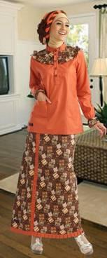 Desain Baju Muslim Motif Batik 02