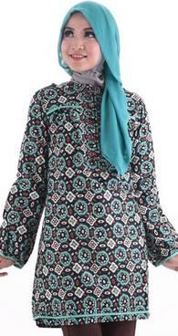 Desain Baju Muslim Motif Batik 03