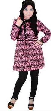 Desain Baju Muslim Motif Batik 04