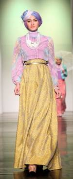 Model Gamis Sasirangan