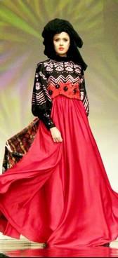 Model Gamis Sasirangan 03