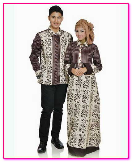 baju batik muslim couple dress