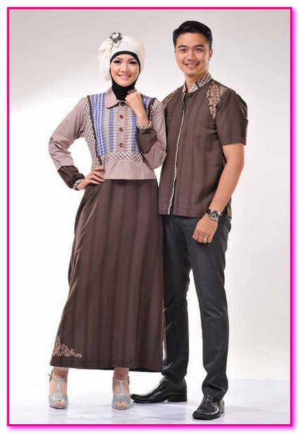 baju couple batik muslim remaja 2015