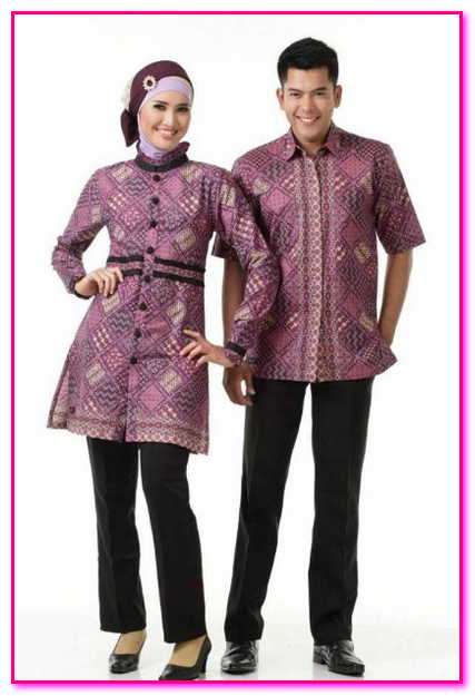 baju couple muslim batik