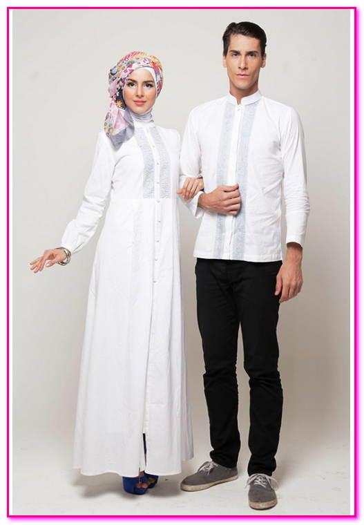 baju couple muslim syar'i putih
