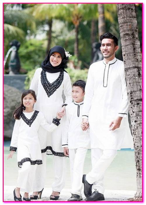 baju couple muslim warna putih