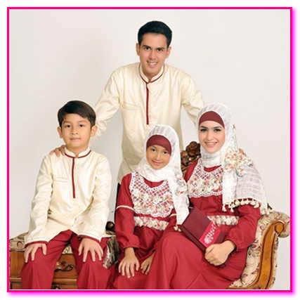 baju muslim couple keluarga modern