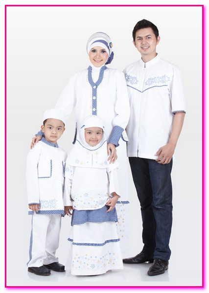 baju muslim couple keluarga warna putih