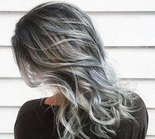 Grey Highlight Hair