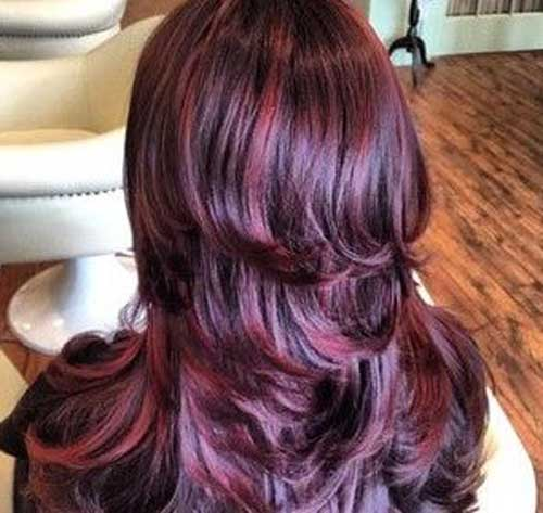 Red Highlight Burgundy