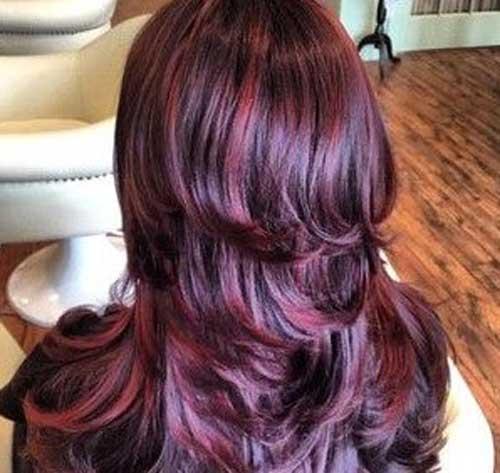 Red Highlight Burgundy