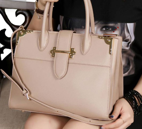 Tas Prada City Bibliotheque Bag With Gold Tone Hardware