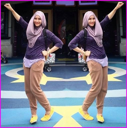 Celana Jogger Jeans Wanita 1