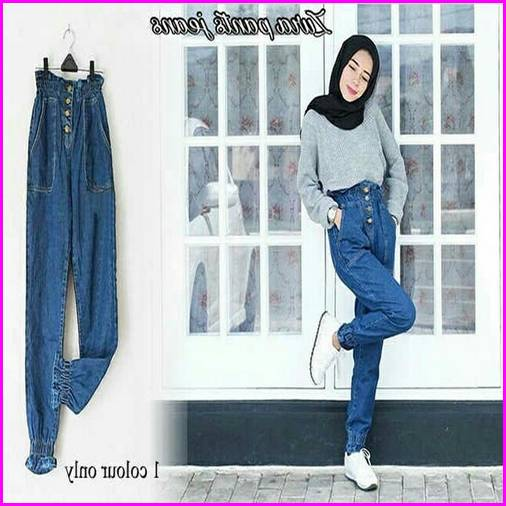 Celana Jogger Jeans Wanita 6