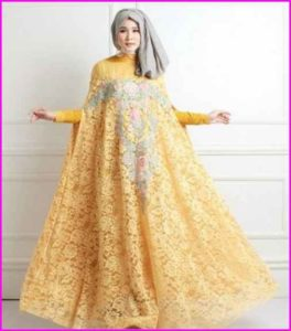 Baju Muslim Pesta Model Brokat