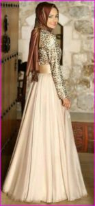 Model Baju Pesta Muslim Sifon