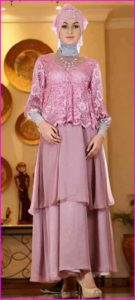 Model Satin Baju Muslim Pesta