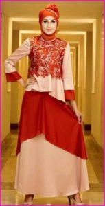 Model Satin Baju Muslim Pesta