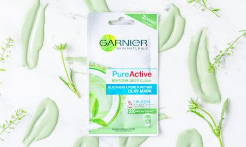 Garnier Pure Aktive Matcha Clay Mask